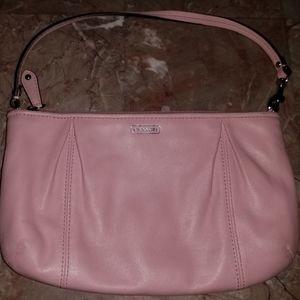 Soft pink Coach wristlet/small shoulder bag/clutch